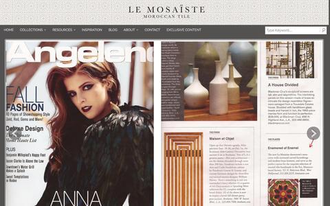 Screenshot of Press Page lemosaiste.com - Press   Le Mosaiste   Moroccan Tile, Moroccan Mosaic Tiles - captured Oct. 2, 2014