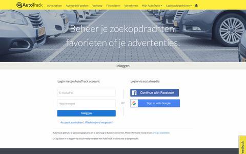 Screenshot of Login Page autotrack.nl - AutoTrack - Log in - captured July 5, 2018