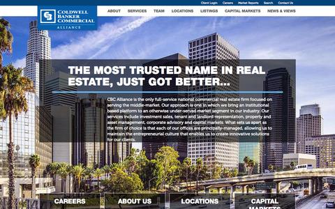 Screenshot of Home Page cbcalliance.com - Home - Coldwell Banker Commercial Alliance - captured July 16, 2015