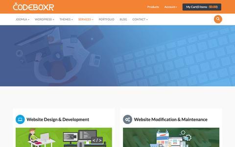 Screenshot of Services Page codeboxr.com - Codeboxr Services | Codeboxr - captured Sept. 3, 2016