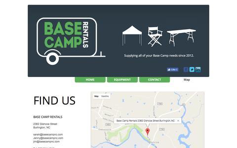 Screenshot of Maps & Directions Page basecampnc.com - Base Camp Rentals l North Carolina l 336.214.4048 | Map - captured Nov. 22, 2016