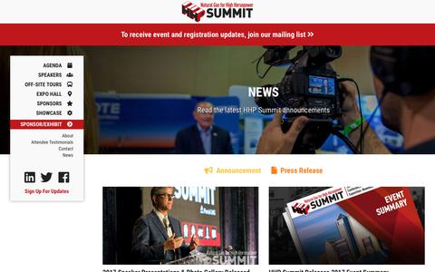 Screenshot of Press Page hhpsummit.com - NEWS | Natural Gas for High Horsepower (HHP) Summit - captured Sept. 28, 2018