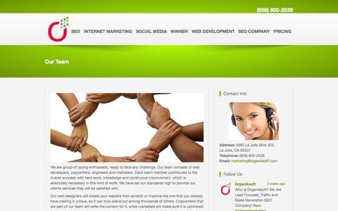 Screenshot of Team Page organiksoft.com - Organiksoft Marketing Team - captured Sept. 23, 2014