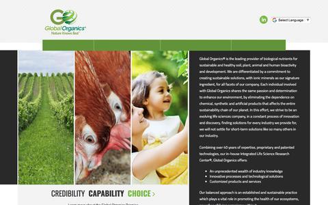 Screenshot of Home Page globalorganicsgroup.com - Home - Global Organics Group         -         Global Organics Group - captured Oct. 22, 2017