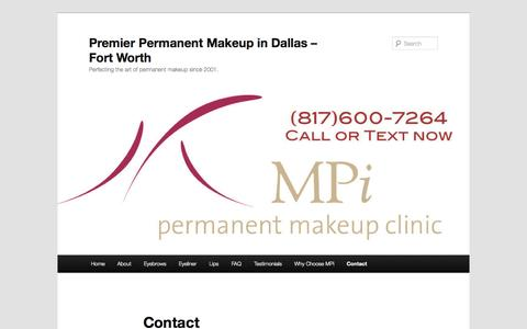 Permanent Makeup Dallas - Fort Worth, Contact MPi  | Premier Permanent Makeup in Dallas - Fort Worth