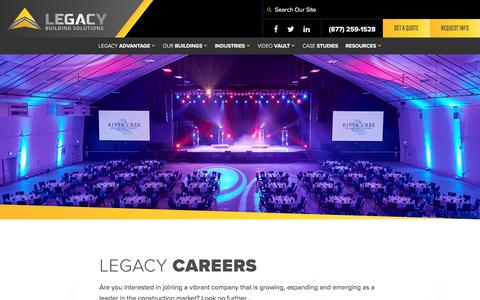 Screenshot of Jobs Page legacybuildingsolutions.com - Careers with Legacy Building Solutions - captured May 17, 2017