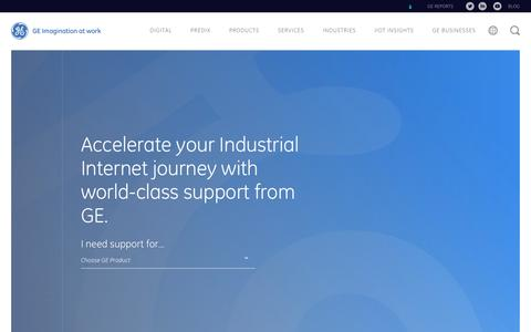 Screenshot of Support Page ge.com - Product & Suite Technical Support | GE Digital - captured Dec. 6, 2016