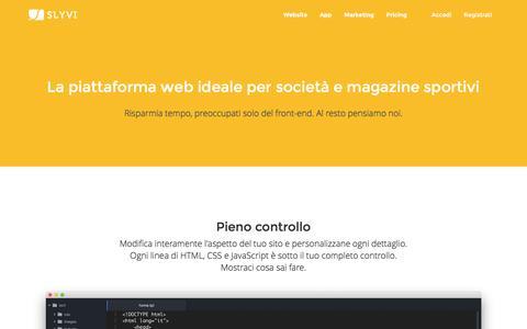 Screenshot of Developers Page slyvi.com - Slyvi - Comunica e connettiti con i tuoi fan - captured Dec. 6, 2016