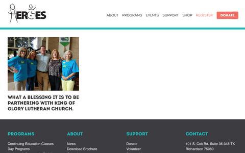 Screenshot of Press Page heroesdfw.org - News | H.E.R.O.E.S. - captured July 8, 2017