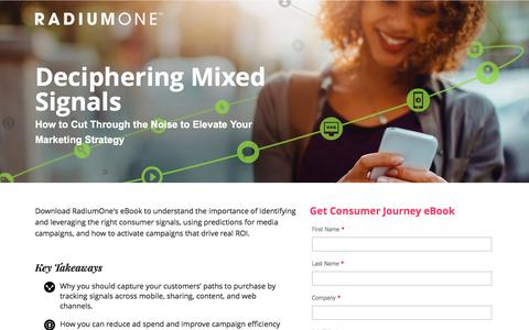Screenshot of Landing Page radiumone.com - Deciphering Mixed Signals: How to Cut Through the Noise to Elevate Your Marketing Strategy - captured March 30, 2017