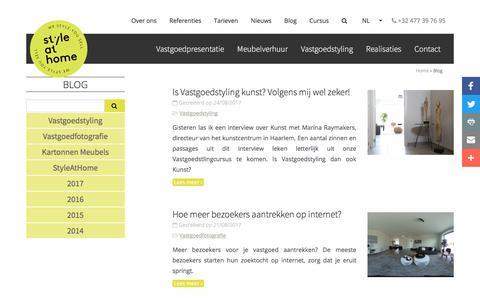 Screenshot of Blog styleathome.be - Blog | StyleatHome - captured Oct. 3, 2017
