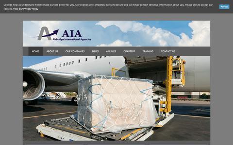 Screenshot of Home Page aiacargo.com - Home - Airbridge International Agencies - captured Nov. 12, 2018