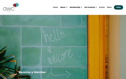 Screenshot of Signup Page seattleawc.org - Become a Member | AWC Seattle - captured Oct. 4, 2018