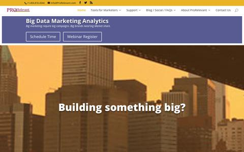 Big Data Analysis and Marketing Analytics | ProRelevant Marketing Solutions