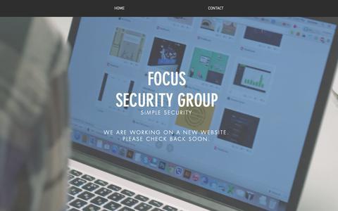 Screenshot of Home Page focussg.com - Focus Security Group - captured Oct. 10, 2018