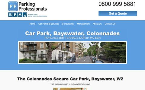 Screenshot of Locations Page parking-pros.co.uk - Colonnades Car Park - Parking in Bayswater | Parking Professionals - captured July 14, 2017