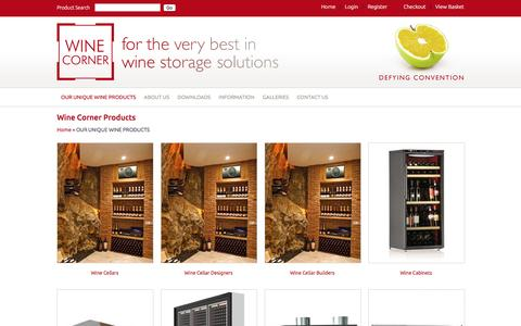 Screenshot of Products Page winecorner.co.uk - Buy Wine Corner products online from the wine storage specialist - captured March 11, 2016