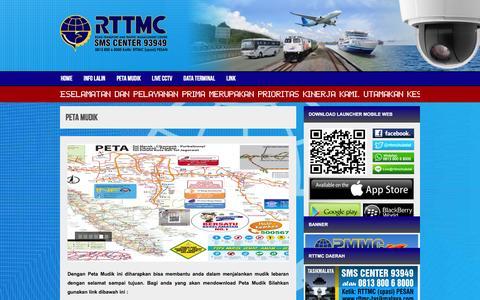 Screenshot of Maps & Directions Page rttmc-hubdat.com - Info Mudik Lebaran - Road Transport and Traffic Management Center - captured Feb. 18, 2016