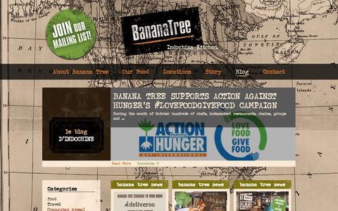 Screenshot of Blog bananatree.co.uk captured Oct. 5, 2014