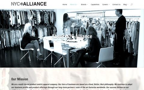 Screenshot of About Page nycalliance.com - About Us | NYC Alliance - captured Oct. 26, 2014
