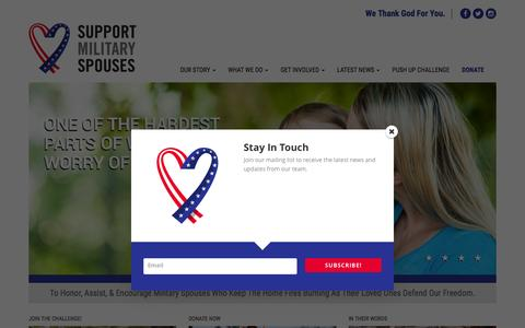 Screenshot of Home Page supportmilitaryspouses.org - Home - Support Military SpousesSupport Military Spouses - captured Feb. 24, 2016