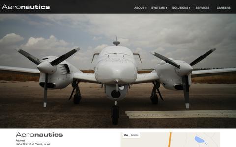 Screenshot of Contact Page aeronautics-sys.com - Aeronautics Ltd. | Contact Us - captured Feb. 5, 2016