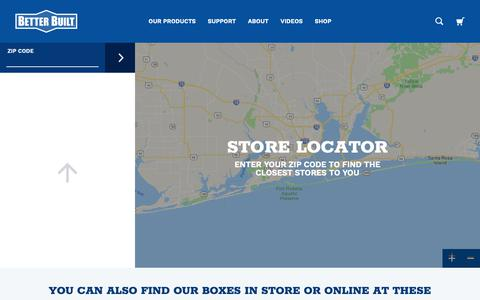 Screenshot of Locations Page dawsbetterbuilt.com - Store Locator | Better Built Truck Tool Boxes - captured Oct. 8, 2018