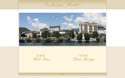 Screenshot of Home Page verbaniahotel.it - Verbania Hotel - Hotel Intra & Hotel Miralago - captured Oct. 16, 2015