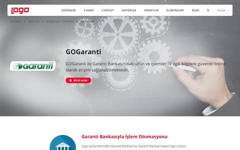 Go Garanti | Entegrasyon Çözümleri | Logo Yazılım