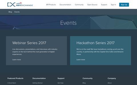 Events | Capital One DevExchange