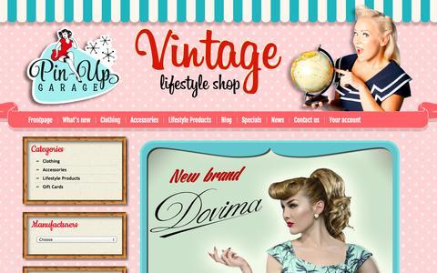 Screenshot of Home Page pinupgarage.fi - Start Your Engines at Pin-Up Garage! - captured Sept. 29, 2014