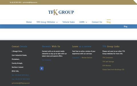 Screenshot of Blog tfkgroup.com - Blog – TFK Group - captured Oct. 20, 2018