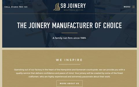 Screenshot of About Page sbjdanebury.com - SB Joinery | The Joinery Manufacturer of Choice - captured Feb. 3, 2016