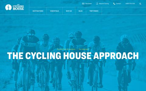 Screenshot of About Page thecyclinghouse.com - About Cycling House | Our Culture | Award Winning Trips - captured Nov. 29, 2019