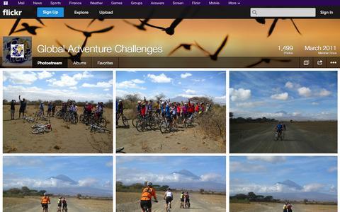 Screenshot of Flickr Page flickr.com - Flickr: Global Adventure Challenges' Photostream - captured Oct. 22, 2014