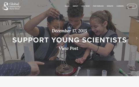 Screenshot of Press Page globalcommunitycs.org - News — Global Community Charter School - captured Jan. 29, 2016