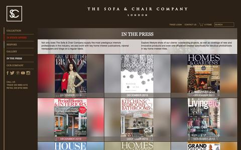 Screenshot of Press Page thesofaandchair.co.uk - Press - The Sofa & Chair Company - captured Jan. 27, 2016