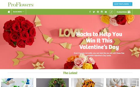 Screenshot of Blog proflowers.com - ProFlowers Blog | ProFlowers Blog - captured Jan. 14, 2016