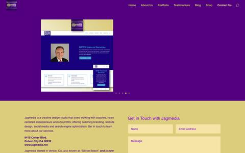 Screenshot of Contact Page jagmedia.net - Jagmedia is a digital creative studio for entrepreneurs and coaches, offering branding, website design, social media and search engine optimization. | Jagmedia | Venice Beach Website Design | Wordpress Websites | Branding Design - captured Nov. 6, 2018