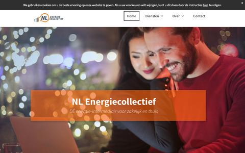 Screenshot of Home Page nlenergiecollectief.nl - NL Energiecollectief, energiek in collectiviteit! - captured Nov. 15, 2018