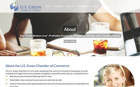 Screenshot of About Page usgreenchamber.com - About | U.S. Green Chamber of Commerce - captured Sept. 20, 2017
