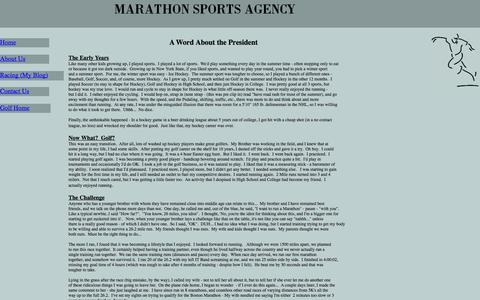 Screenshot of About Page marathonsportsagency.com - Marathon Sports Agency - About Us - captured Oct. 27, 2014