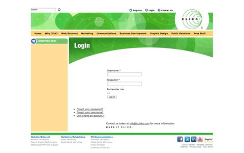 Screenshot of Login Page itclicks.com - Login - captured Oct. 6, 2014