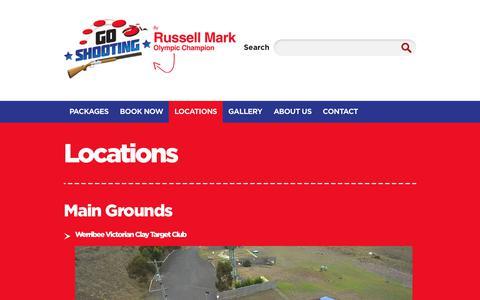 Screenshot of Locations Page goshooting.com.au - Victorian Clay Target Club & Queensland | Go Shooting - captured Feb. 26, 2018