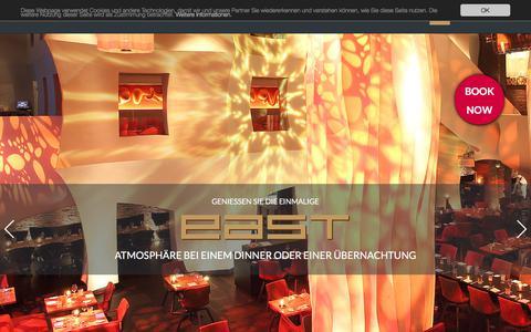 Screenshot of Home Page east-hamburg.de - east Design Hotel und Restaurant in Hamburg-St. Pauli - captured June 22, 2017