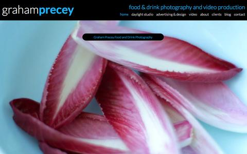 Screenshot of Home Page precey.com - Food Photography London | Creative Food & Drink Photographers - captured Feb. 1, 2016