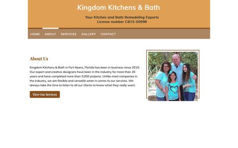 Screenshot of About Page kingdom-kitchens.com - About - Kingdom Kitchens & Bath in Fort Myers, FL - captured Oct. 15, 2018