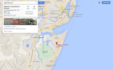 Screenshot of Maps & Directions Page google.com.br - Google Maps - captured Sept. 19, 2014