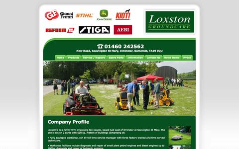 Screenshot of Home Page loxston.co.uk - Loxston Groundcare Ltd - Company Profile - captured Oct. 3, 2014