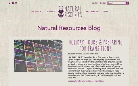 Screenshot of Press Page naturalresources-sf.com - Natural Resources Blog   Natural Resources - captured Feb. 23, 2016